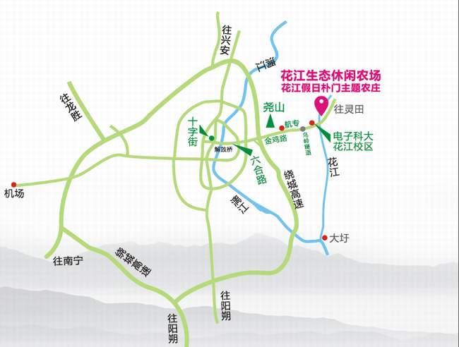 花江农场地图
